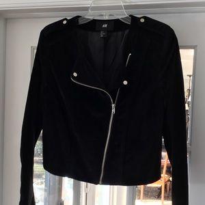 Black velvet motorcycle jacket. FINAL PRICE!!!